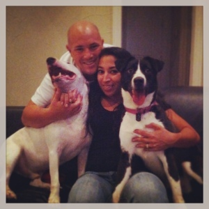 Morningstar with her new family. Adopted in less than one day. It happens.